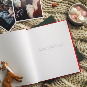 Family Christmas Book | Red