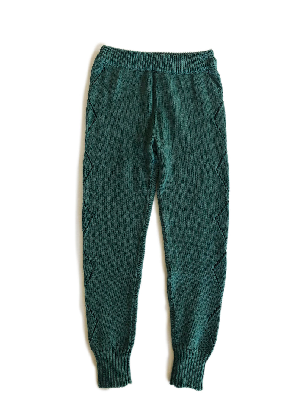 Knitted Leggings - Green Hills
