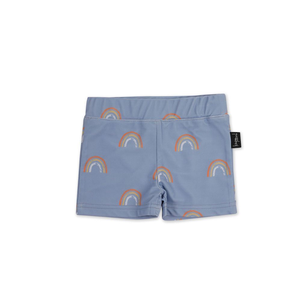 Rainbow Cornflower Swim Trunk - UPF50