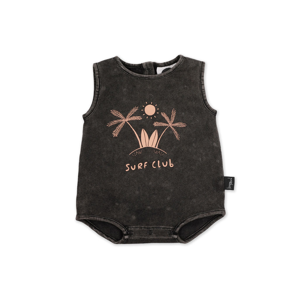 Surf Club Placement Baby romper