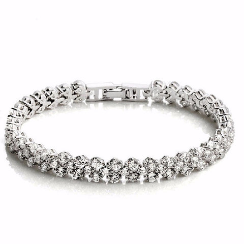 Elegant mosaic crystal heart shaped bracelet - Styleazy
