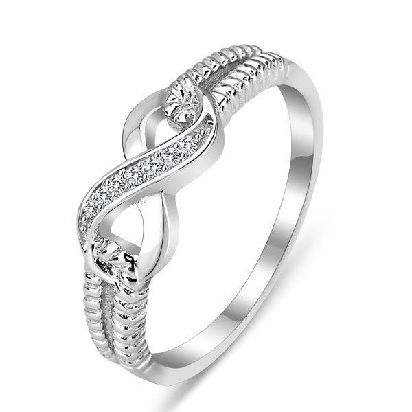 Sterling Silver Infinity Love CZ Ring - Styleazy