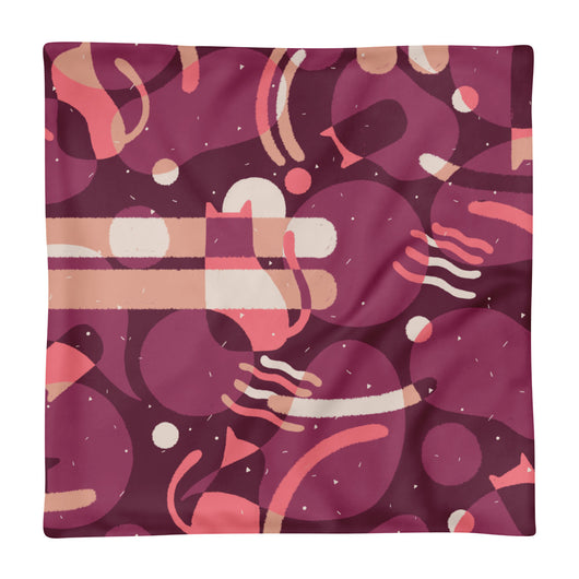 Cat Party Square Pillow Case