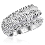 Stackable Combination Diamond Eternity Bands