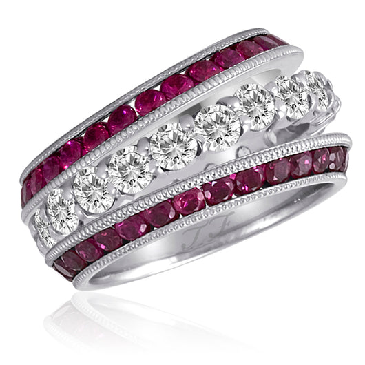 Ruby Jacket Rings Mill-Grain Channel Slanted Wing (2)