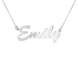 Script Name Necklace Personalized Sterling Silver
