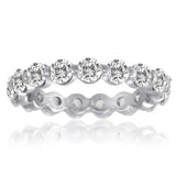 Diamond 14kt. Eternity Band Ring 2.0 ctw Single Prong Setting. Bridal Ring jewelry All Around Finger
