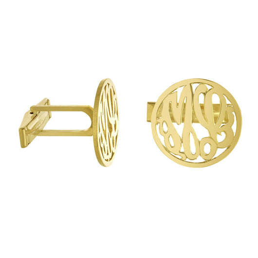 Cuff Links Silver With Gold Plating  Framed Personalized Monogram
