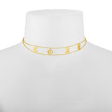 Gothic LOVE Choker Reads love Across Front. Sterling Silver White, Yellow or Pink Gold Flash Plated.