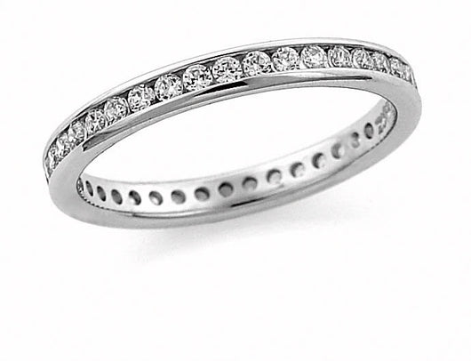 Channel 1.0ctw Diamond Eternity Band ring 14kt. White, Yellow or Rose Gold