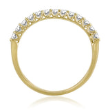 Diamond Stack-able Anniversary Band Ring Trellis Set .40ctw 14kt. Gold Jewelry