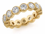 Bezel Set 1.0ct. t.w. Diamond Eternity Ring Band 14kt.  Diamonds. White or Yellow Gold Bridal Ring