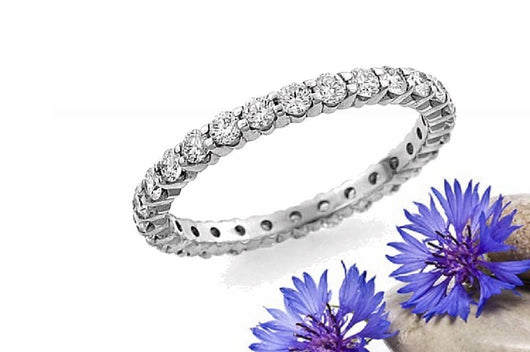 Pave Diamond 14kt. Gold Eternity Band .50ctw Diamonds All Around Ring Made To Size