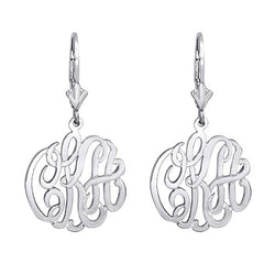 Personalized 3/4 inch Monogram Earrings with Lever Back. Free Shipping
