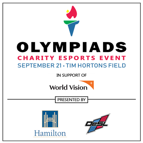 The 3rd Annual Olympiads - Charity eSports Event @ Tim Hortons Field - Hamilton - September 21, 2019- 10:00am - 6:00pm