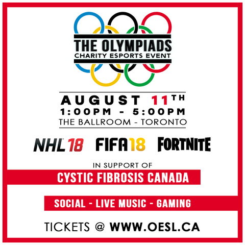 2nd Annual - Olympiads Charity eSports Event (August 2018)