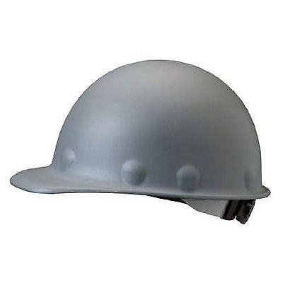 Fibre-Metal Roughneck Gray Fiberglass Cap Style Hard Hat - 8-Point Suspension...