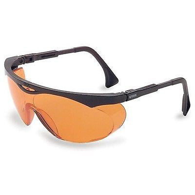 Uvex S1933X Skyper Blue Light Blocking Eyewear, Black Frame, SCT-Orange UV Extreme Anti-Fo...