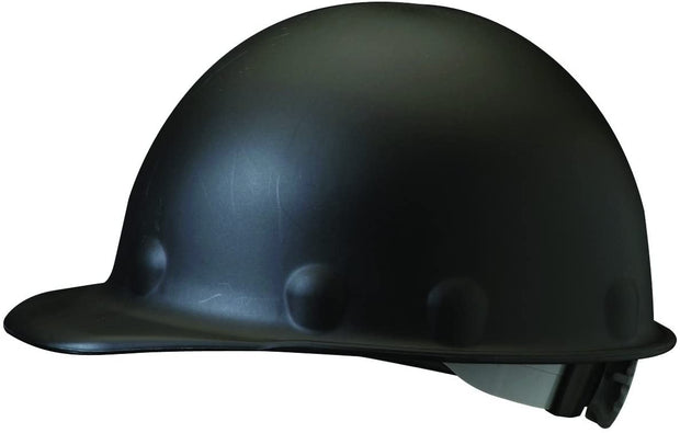 Fibre-Metal P2ARW11A000 Hard Hat Injection Molded Roughneck Fiberglass with 8-Point Ratchet Suspension, Black