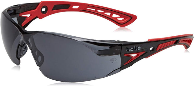 Bolle Rush+ Platinum Anti Scratch / Fog Safety Glasses Smoke Polycarbonate Lens
