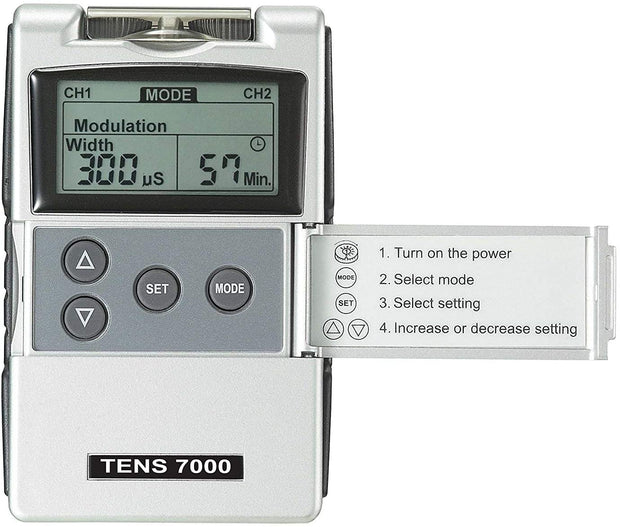 Teravan Bundle of 7 items: TENS 7000 Device + 20 Extra Electrodes and Accessories