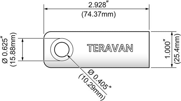 Teravan Fixed Extender Tabs - Toilet Paper Adhesive Extending Adapter Set for Larger Rolls - Grey