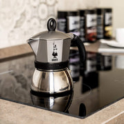 Bialetti Stainless Steel/ Aluminum Moka 3 Cup Induction Espresso Coffee Maker, Metallic