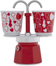 Bialetti Express 2 Cup Mini Express Set 06380 Cuore ( Red Hearts)