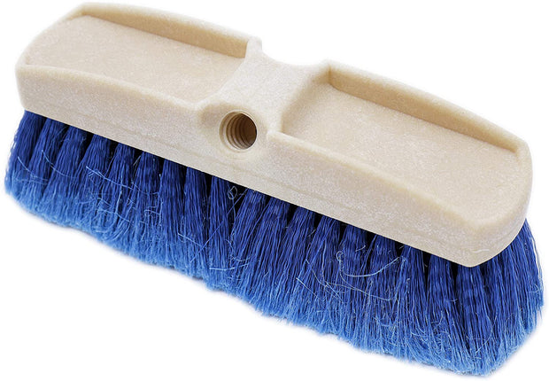 Teravan Blue Obround Medium Soft Flow-Thru Brush for RV's, Wheels and Larger Vehicles (8,10,14 Inch)