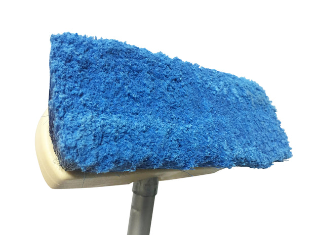 Guttermaster Blue 8 Inch Oblong Medium Soft Flow Through Brush with Flagged Ends for RV's and Larger Vehicles