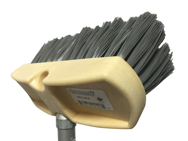 Guttermaster Grey 8 Inch Oblong Medium Stiff Flow Through Brush for Decks and Sidewalks