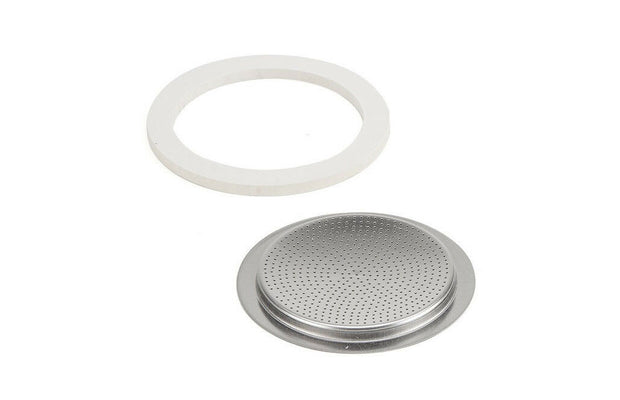 Bialetti Replacement Seal Kit and  Filter Plate, 2-cup, For Venus, Musa, Kitty Stovetops