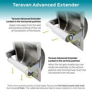 Teravan Advanced Extender for Extra Large Toilet Paper Rolls - Easy Installation and Advanced Features