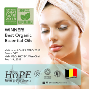 House of Pure Essence Hope Lohas Award 2018 best organic essential oils