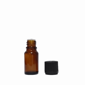 10 mL amber bottle with dropper insert, tamper-evident and childproof black cap - House of Pure Essence