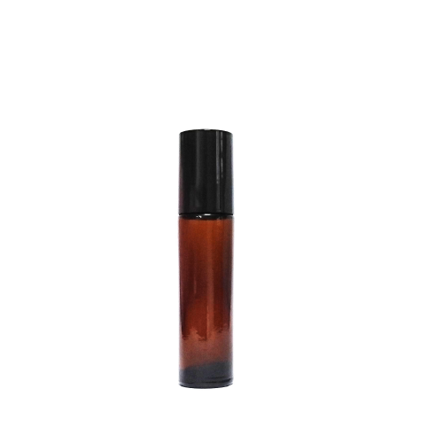 HOPE 10 mL metal roller amber glass bottle