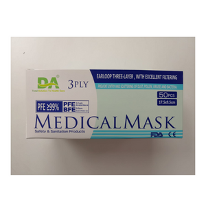 DA BFE99 3-PLY MEDICAL MASK WITH EARLOOPS - House of Pure Essence