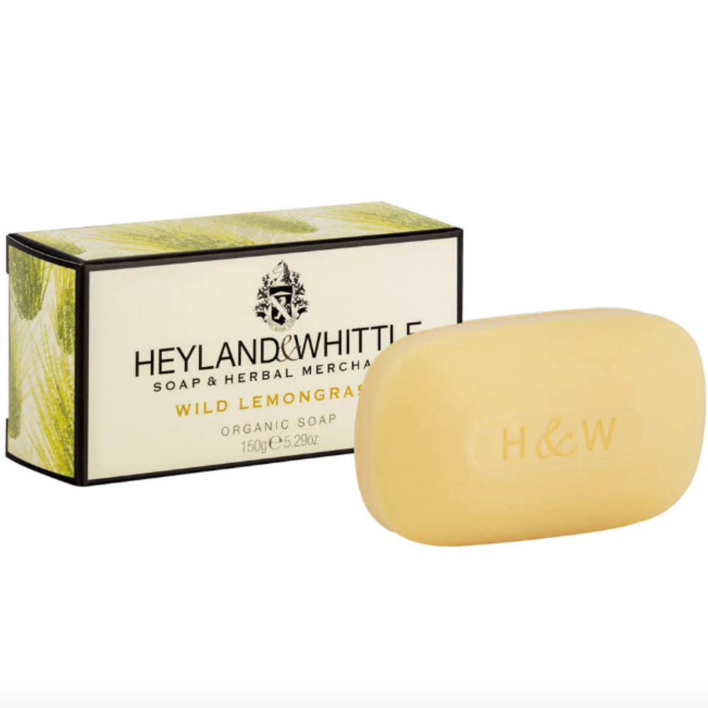 100% Organic Wild Lemongrass Soap Bar, 150g