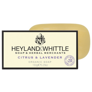 100% Organic Citrus & Lavender Soap Bar, 150g