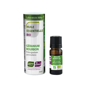 100% Organic Bourbon Geranium (Pelargonium graveolens) Essential Oil, 5 mL