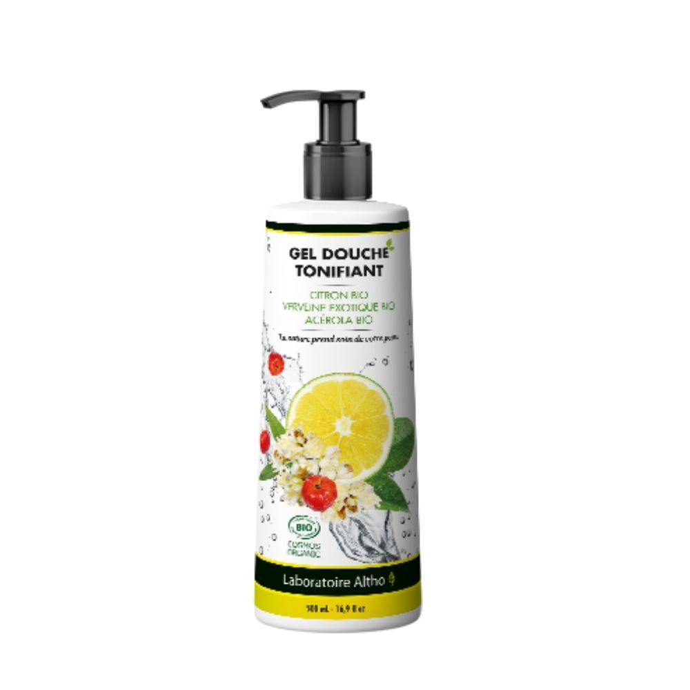 100% Organic Toning Shower Gel - Sulfate Free, 500 mL