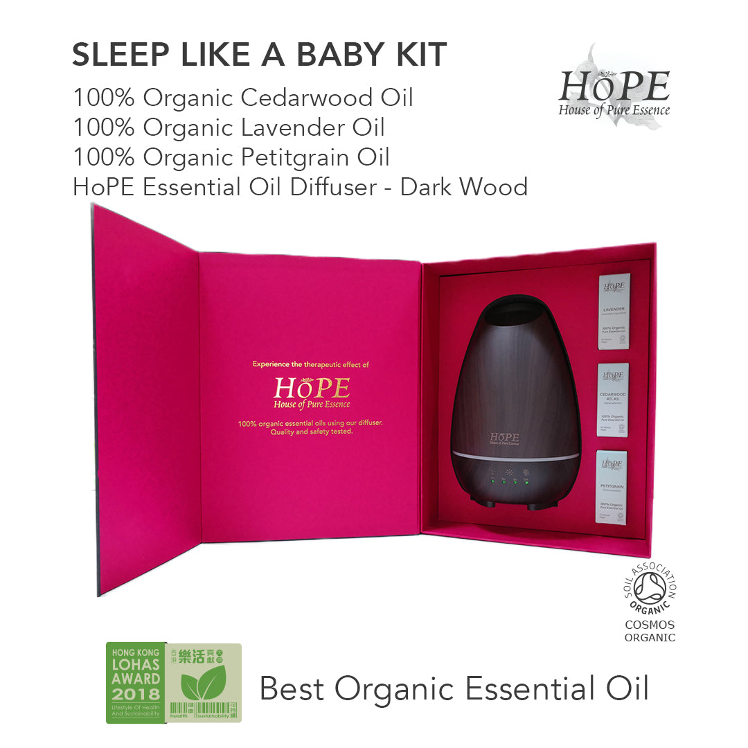 Sleep Like A Baby Kit Organic Essential Oils Diffuser Gift Set House Of Pure Essence Hope