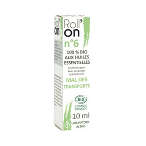 100% Organic Roll'On N ° 6 Travel Sickness, 10 mL