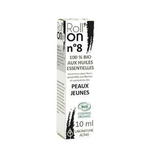 100% Organic Roll'On N ° 8 Young Skin, 10 mL