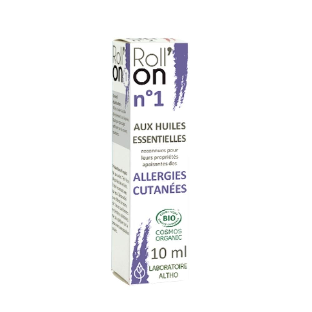 100% Organic Roll'On N ° 1 Skin Allergies, 10 mL