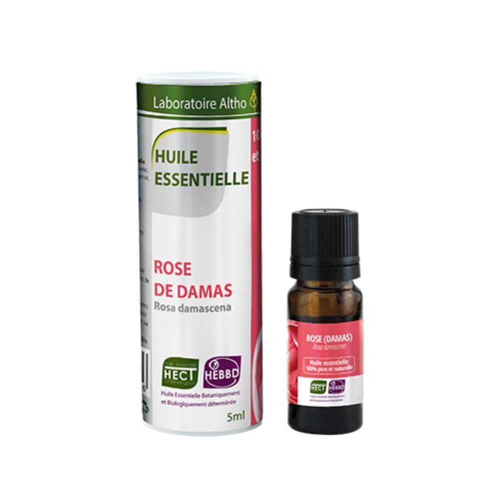 100% Organic Damask Rose (Rosa damascena) Essential Oil, 5 mL