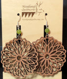 Mandala Wooden Dangle Earrings 20-10021