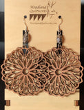 Mandala Wooden Dangle Earrings 20-10039