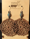 Mandala Wooden Dangle Earrings 20-10040