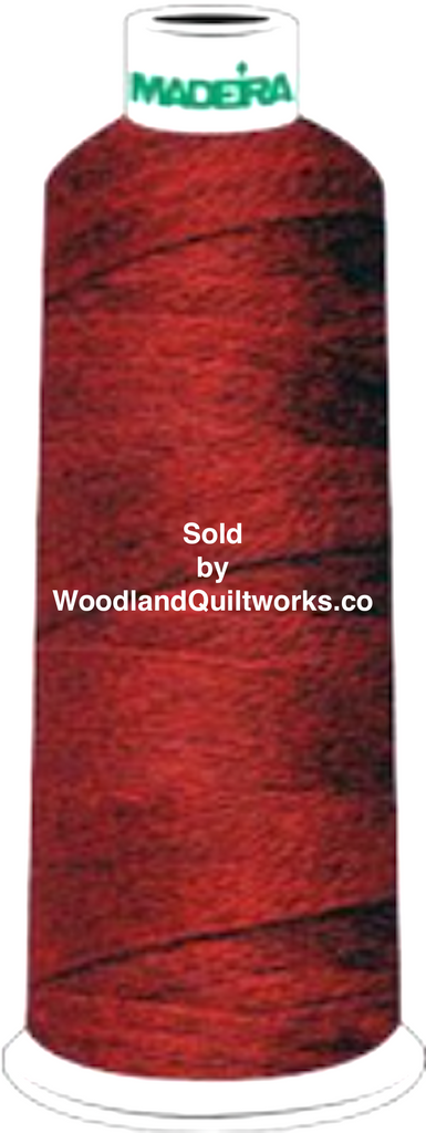 Madeira Burmilana Wool #12 Thread : Color 813-3354 Cherry Red Melange - Woodland Quiltworks, LLC